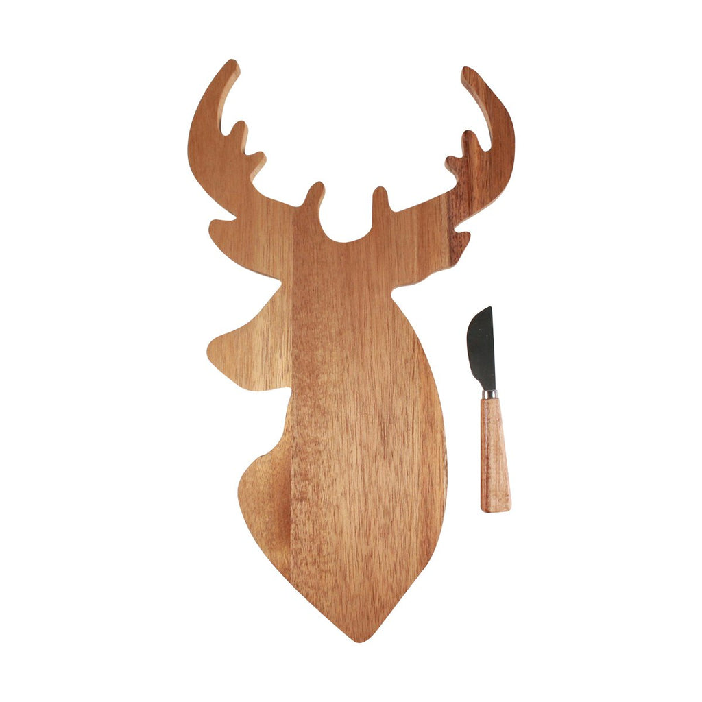 Timber Board and Cheese Spreader Set - Reindeer