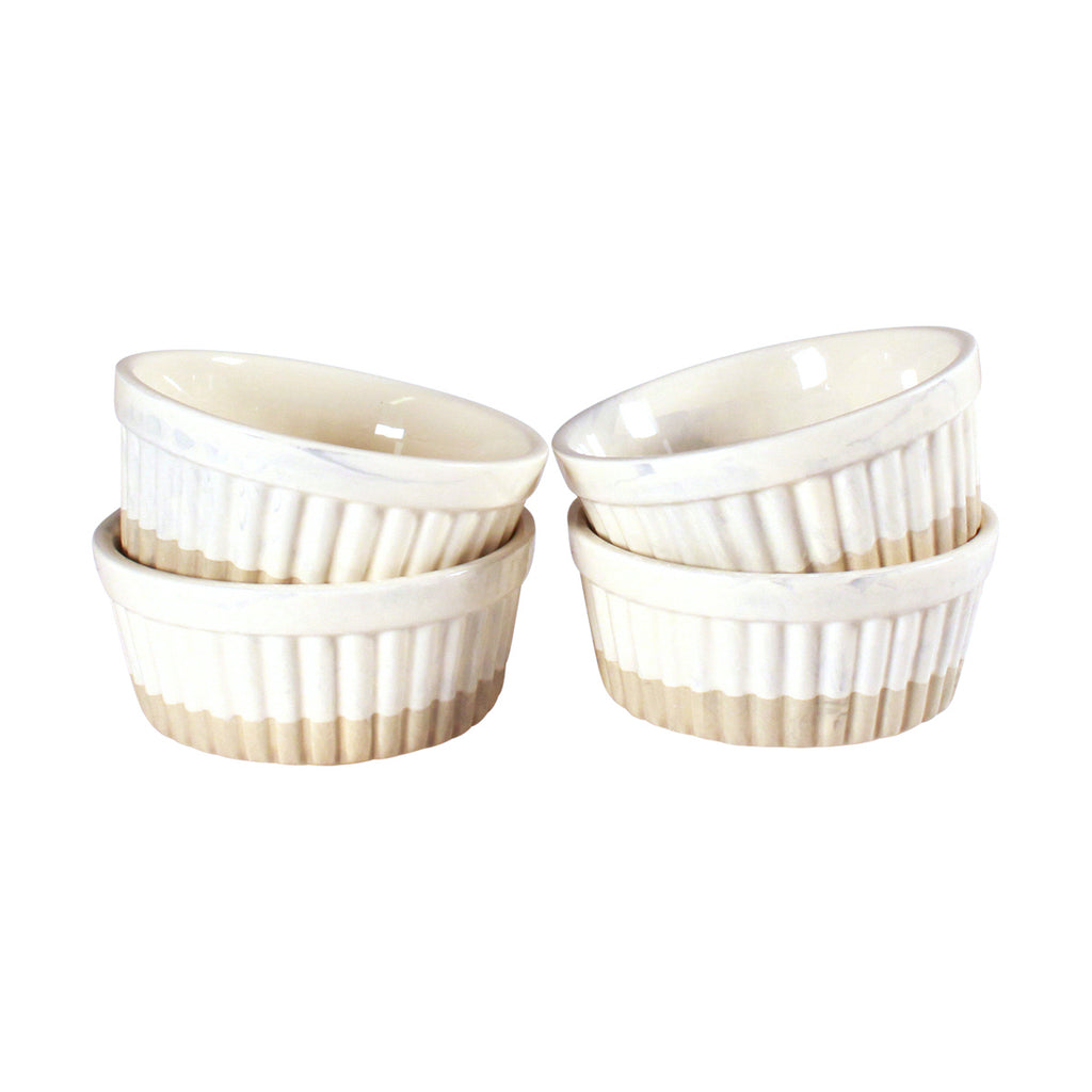 Ramekin Set - Natural Dipped
