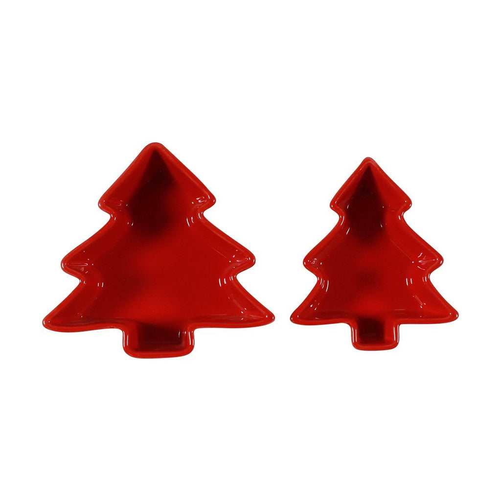 Set of 2 Figural Ramekins - Red Tree