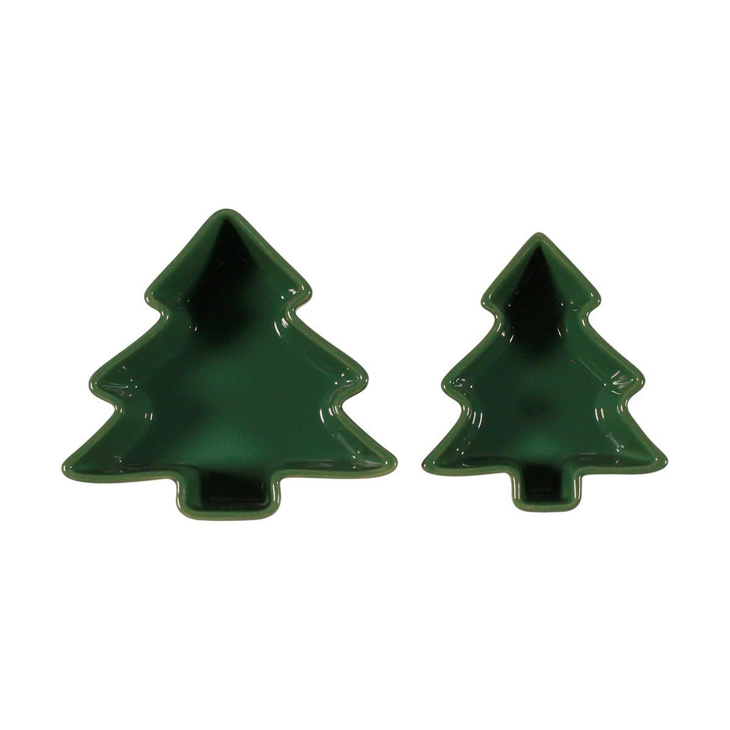 Set of 2 Figural Ramekins - Green Tree