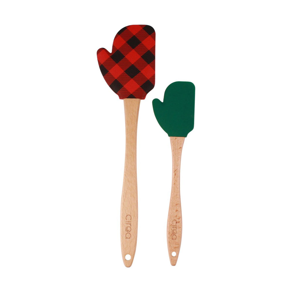 Spatulas - Set of 2 Buffalo Check Mittens