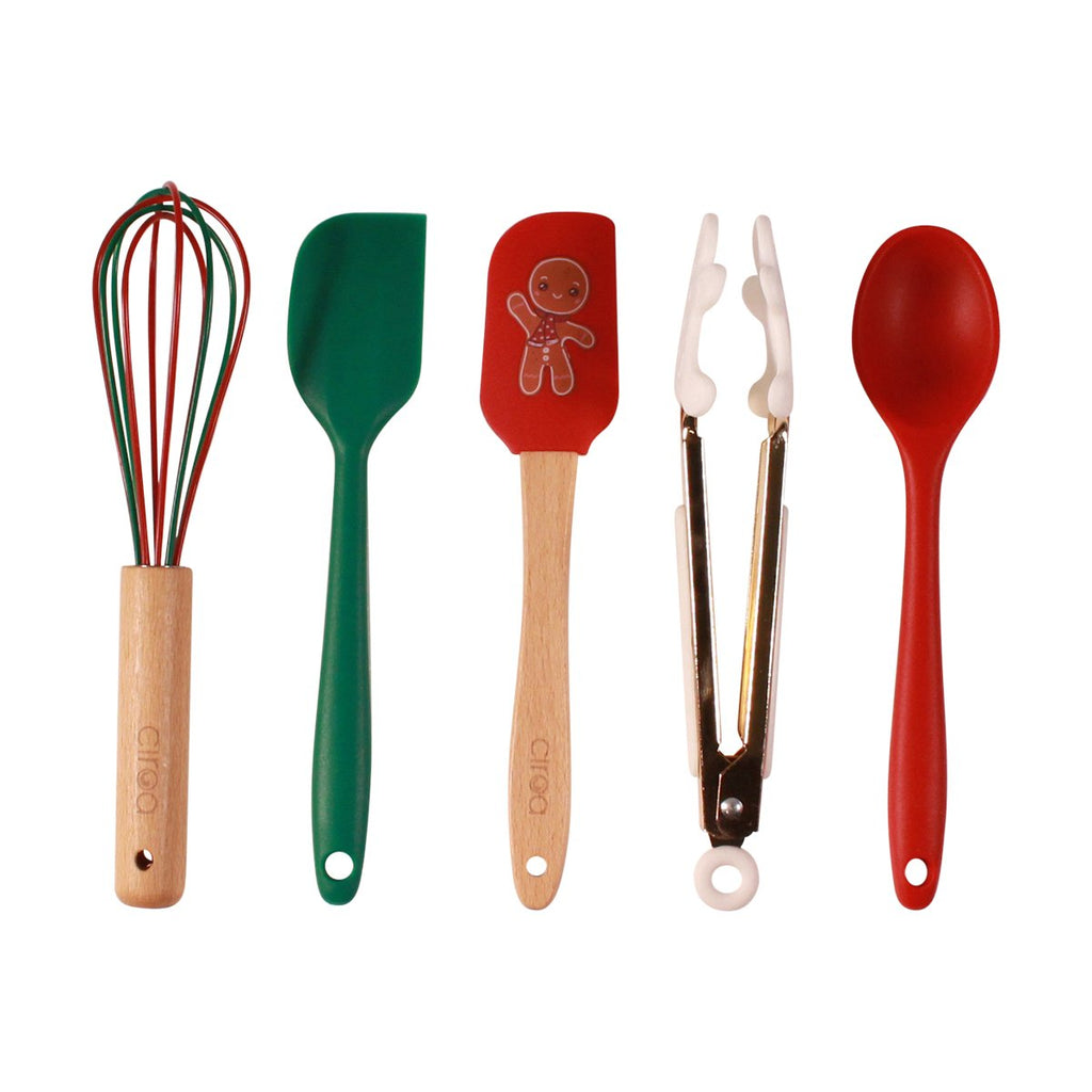 Mini Utensils - Set of 5 Gingerbread Man
