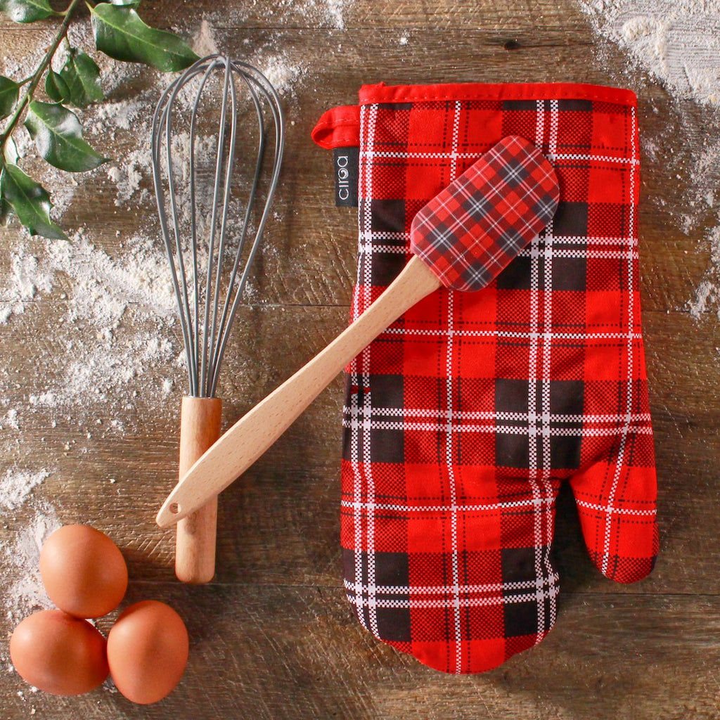 Oven Mitt & Utensil Set - Plaid