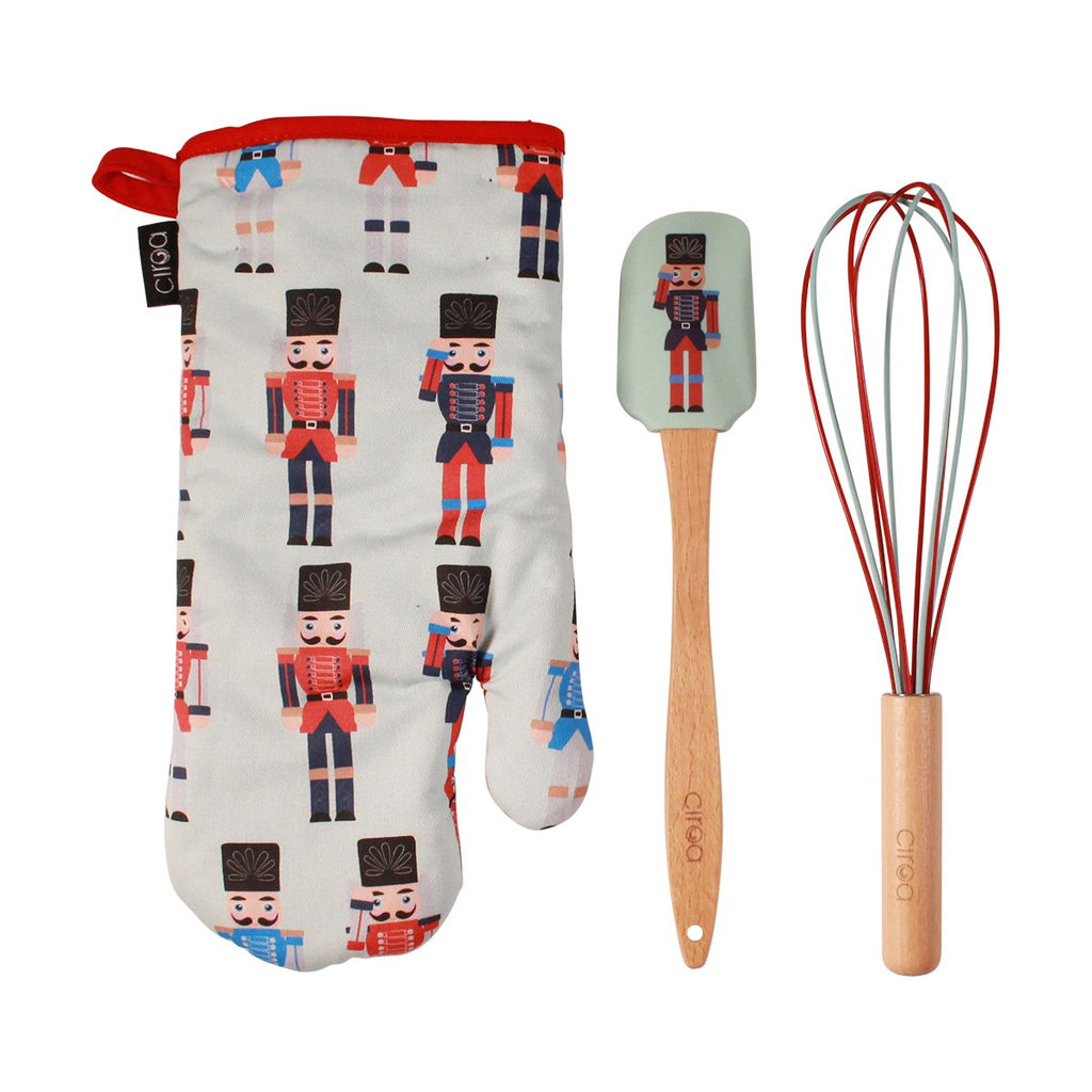 Oven Mitt & Utensil Set - Nutcracker