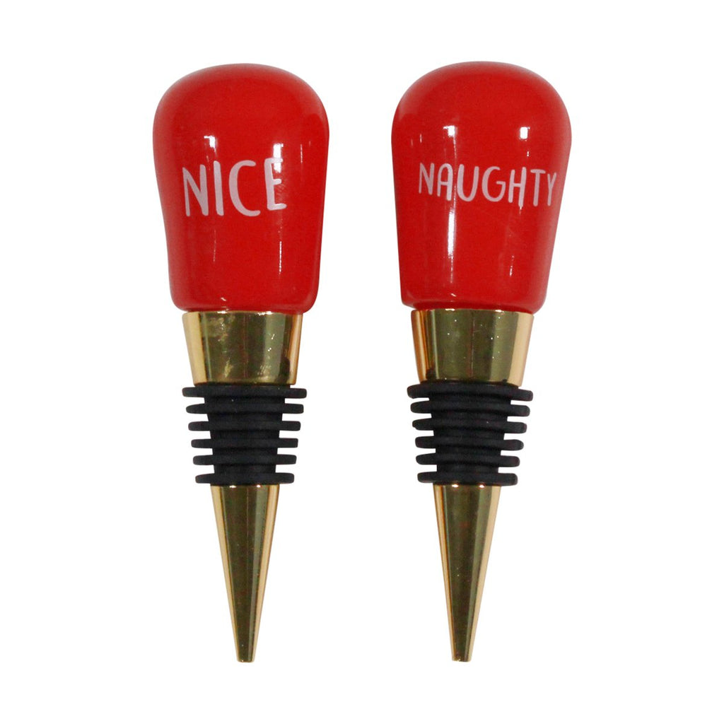Bottle Stoppers - Set of 2 Naughty & Nice
