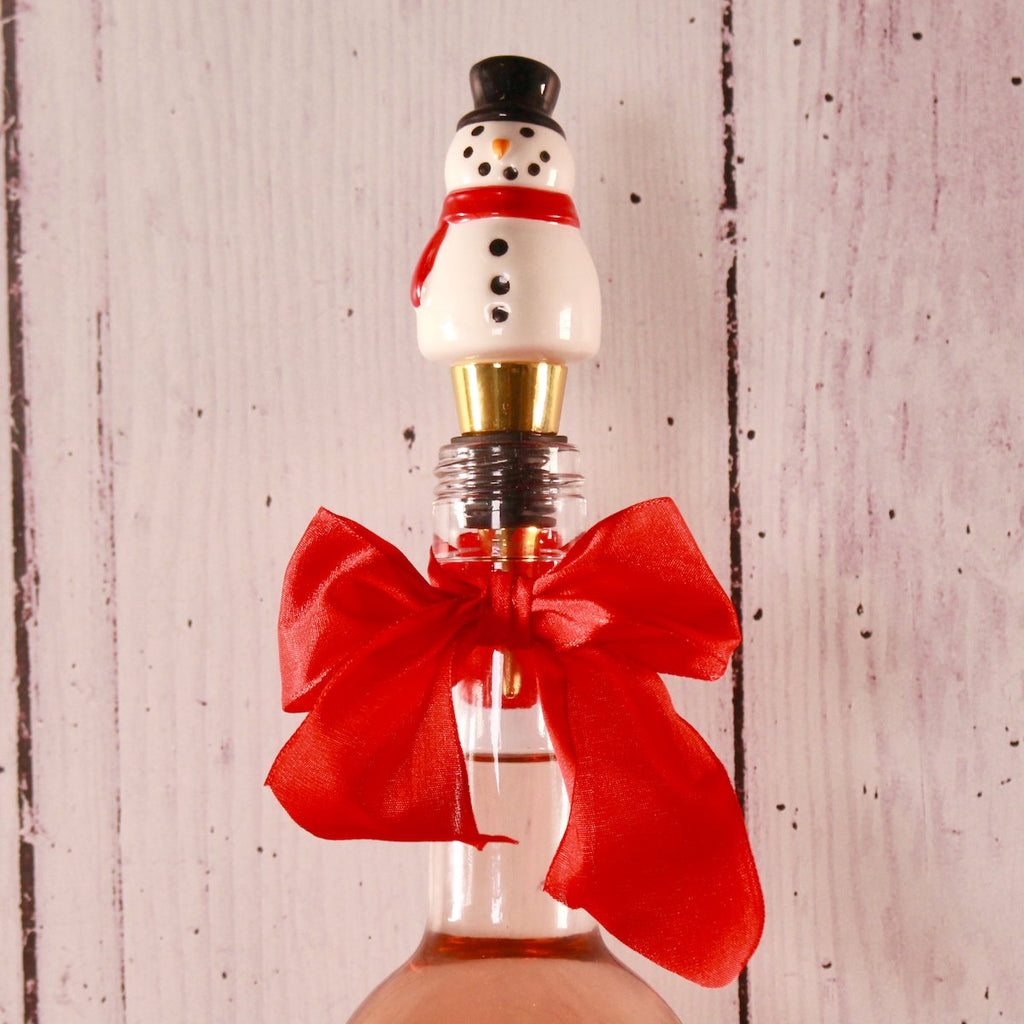 Bottle Stopper - Snowman