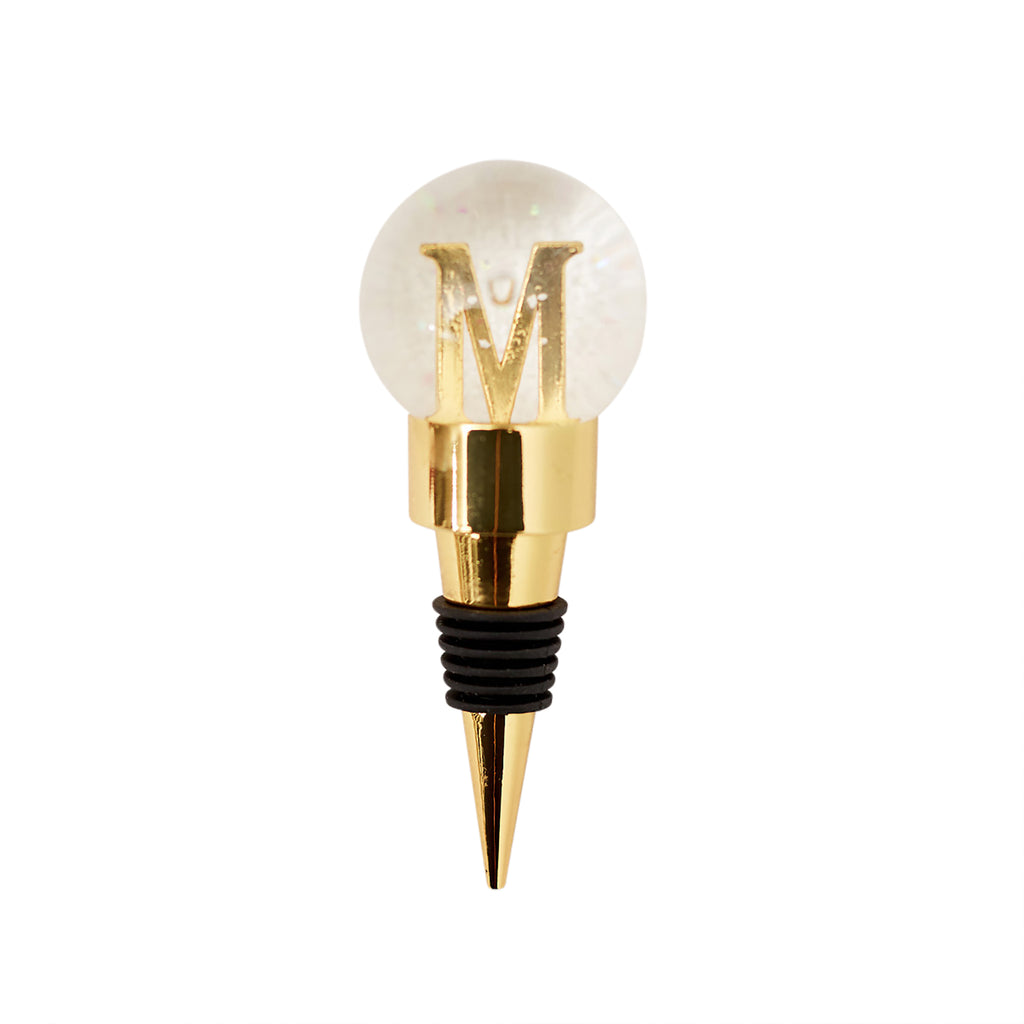 Bottle Stopper - Monogram Snowglobe M