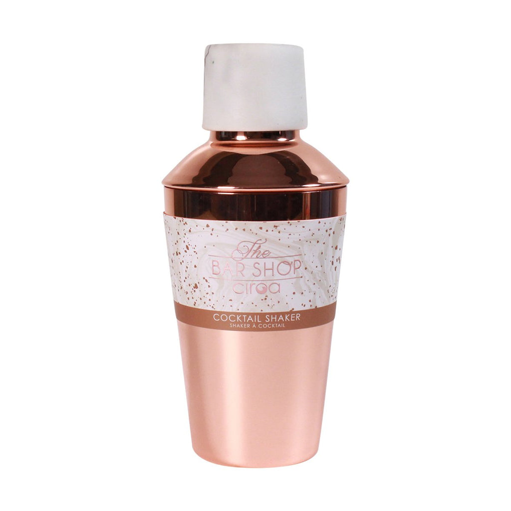 Cocktail Shaker - Resin White & Rose Gold