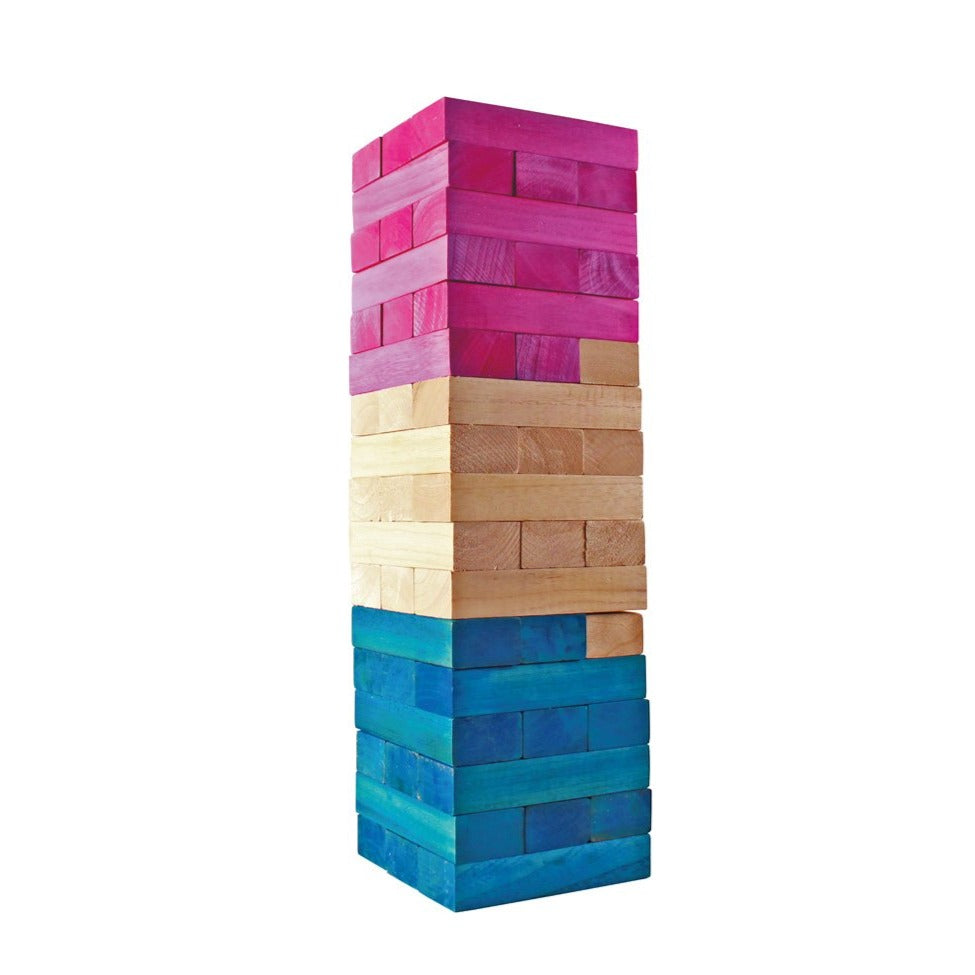 Giant Tumbling Tower - Pink & Blue