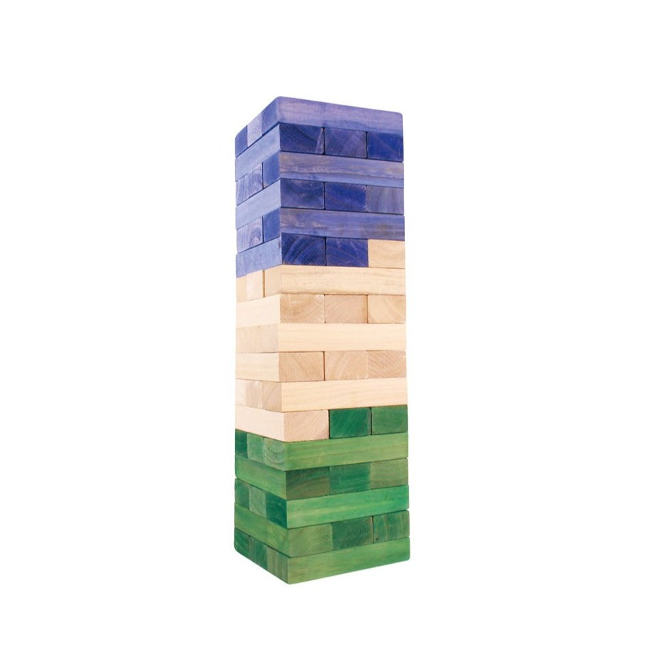 Giant Tumbling Tower - Green & Blue