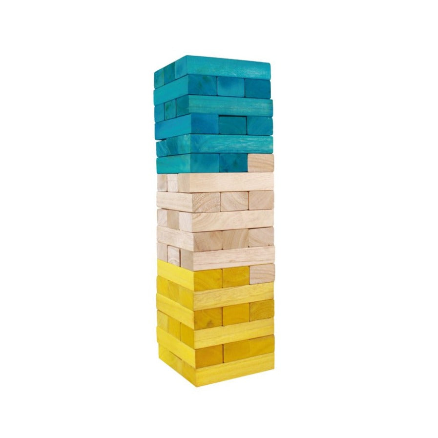 Giant Tumbling Tower - Teal & Yellow