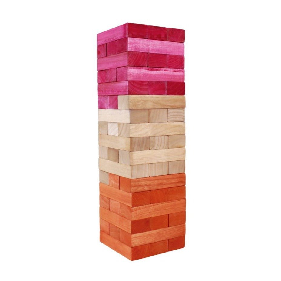 Giant Tumbling Tower - Pink & Orange