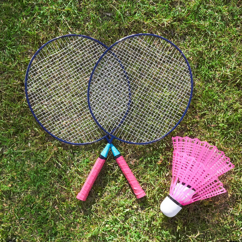 Giant Badminton Set - Pink & Blue