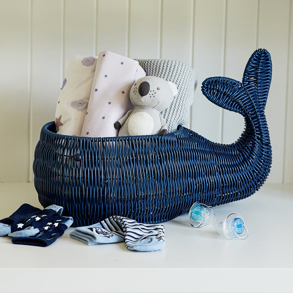 Resin Wicker Bowl - Whale