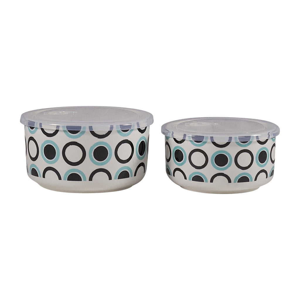 Microwave Me Bowls Set of 2 - Spots