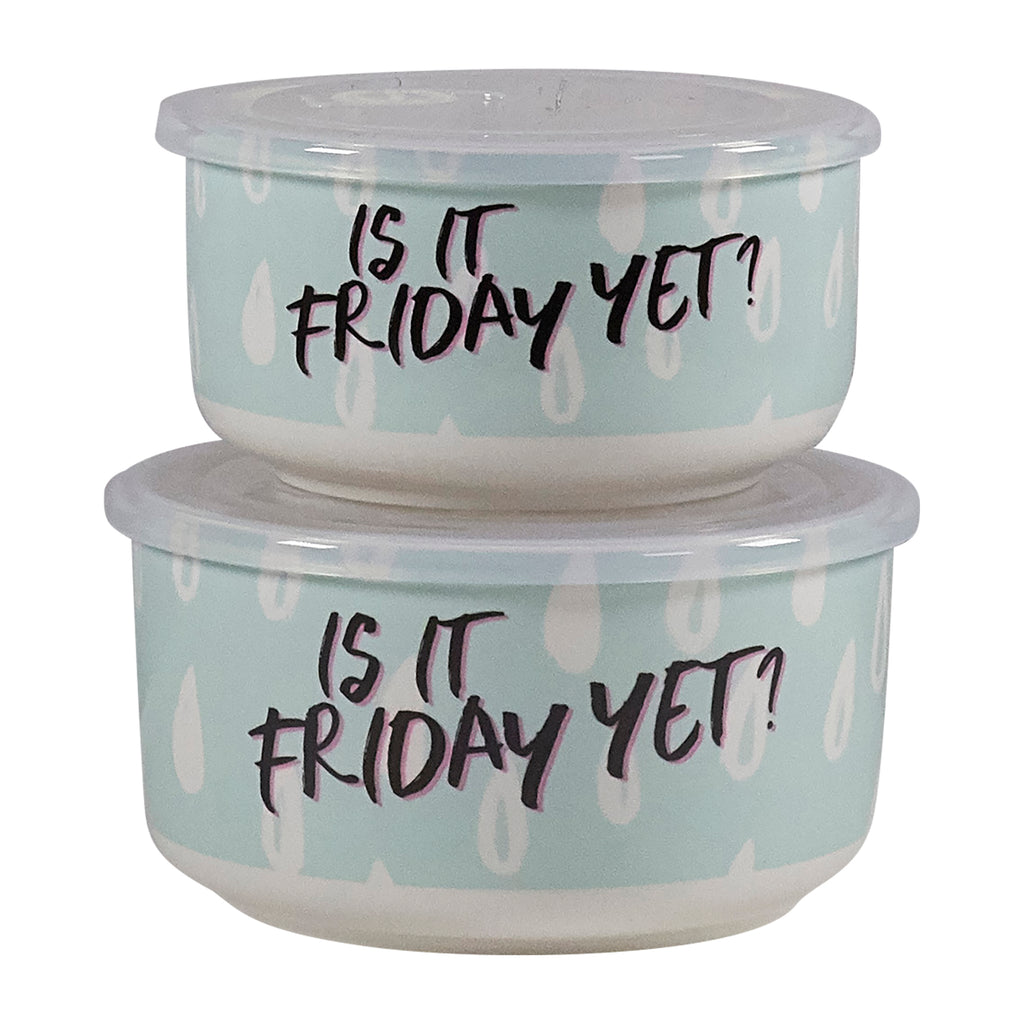 Microwave Me Bowls Set of 2 - Is It Friday Yet?