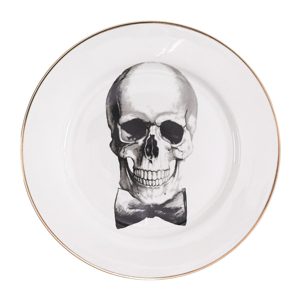 Dinner Plates Set of 4 - Going Out Skulls