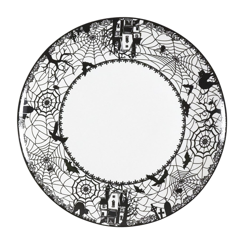 Salad Plates Set of 4 - Spooky Lace