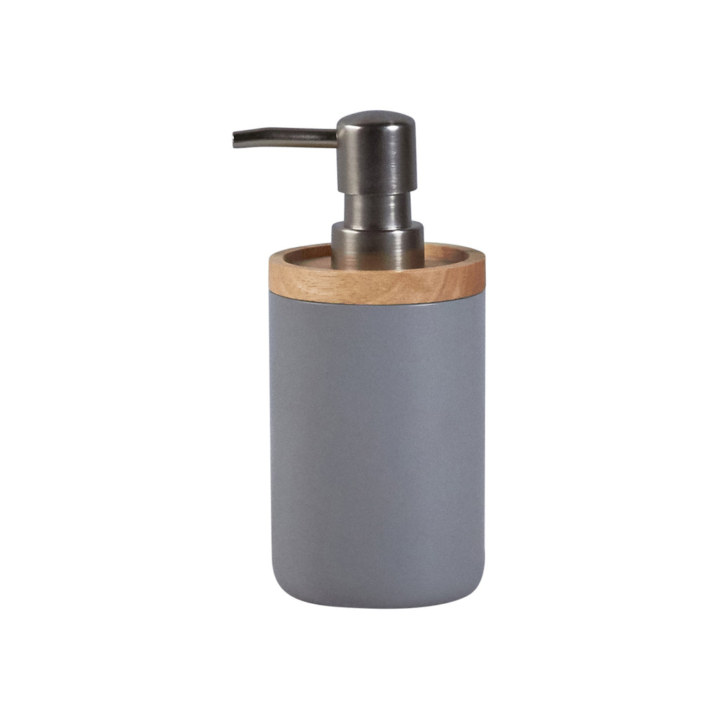 Soap Dispenser - Bamboo & Gray