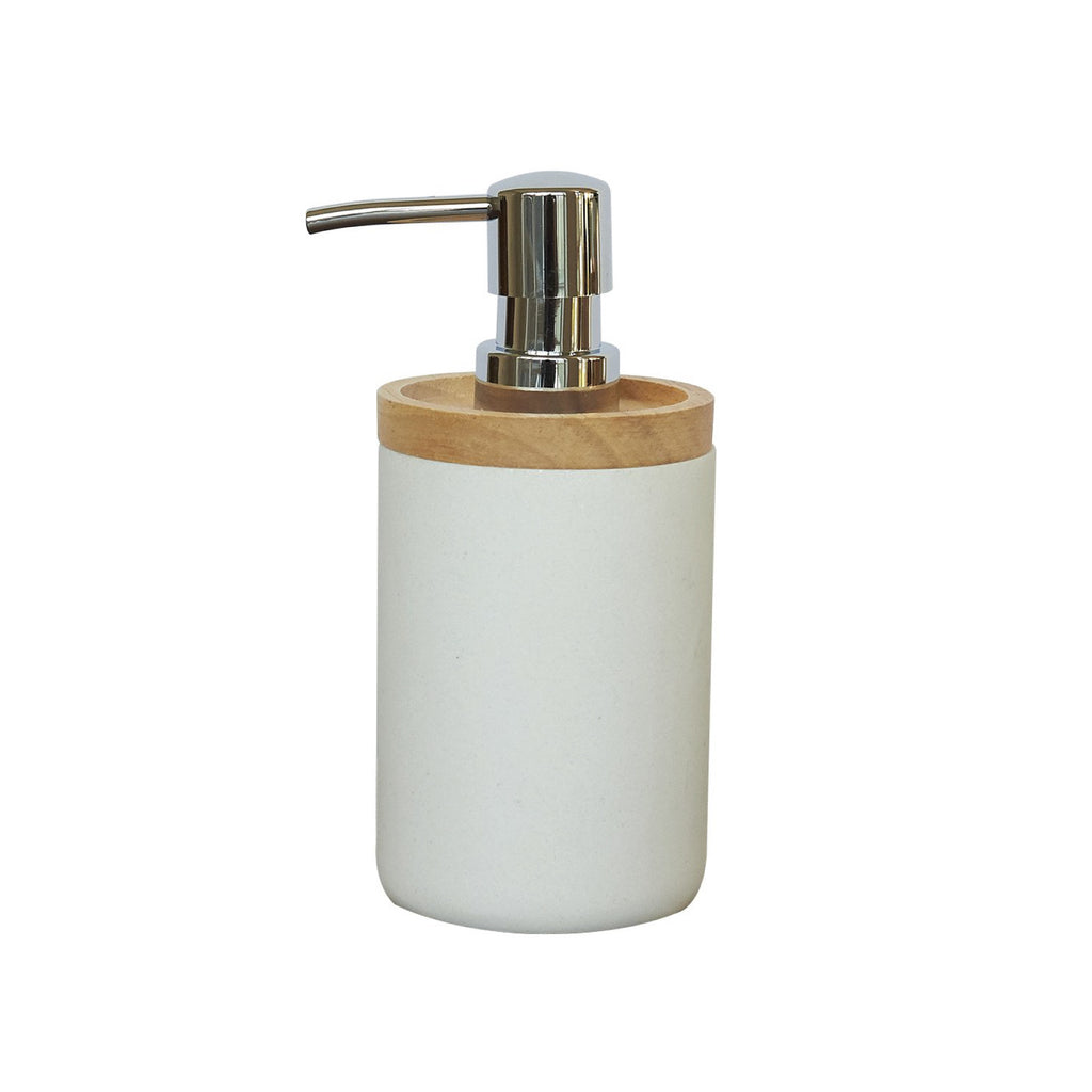 Soap Dispenser - Bamboo & White Sand