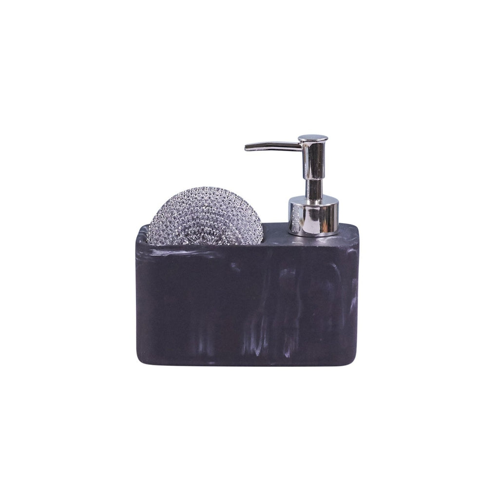 Soap & Sponge Set - Black Marble