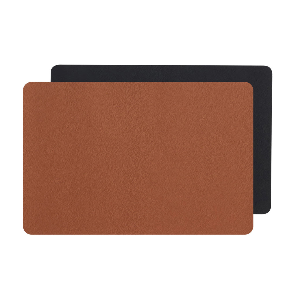Placemats Set of 4 - Reversible Faux Leather