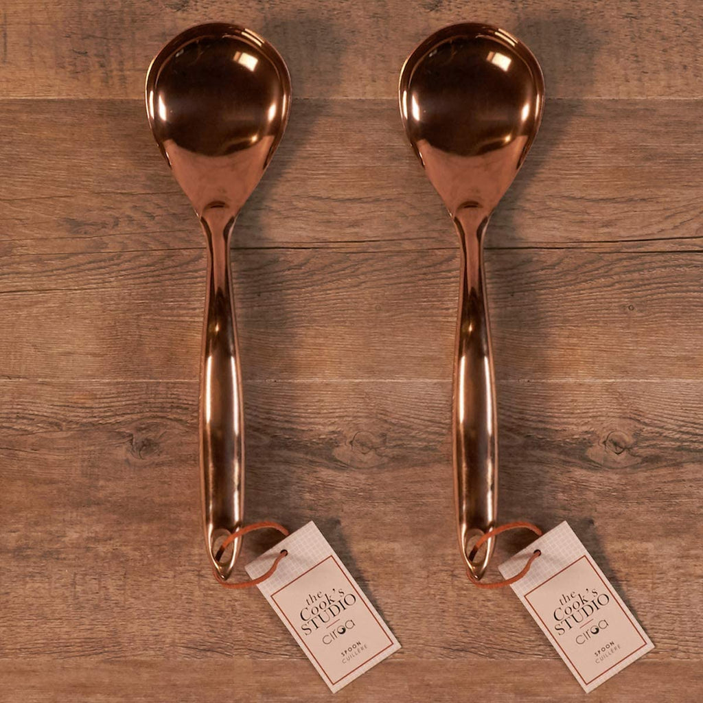 Serving Spoon - Stainless Steel Copper Finish Set of 2