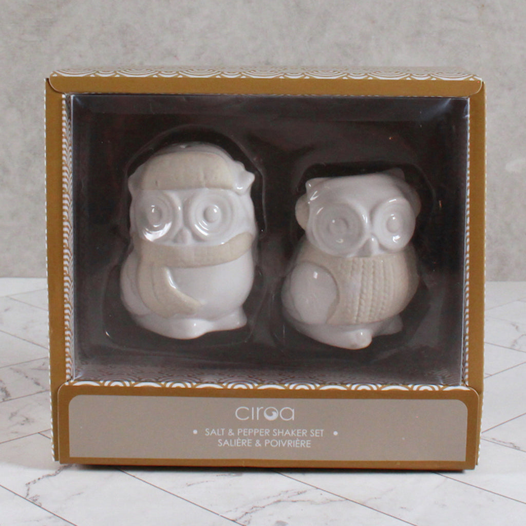 Salt & Pepper Shakers - Owl