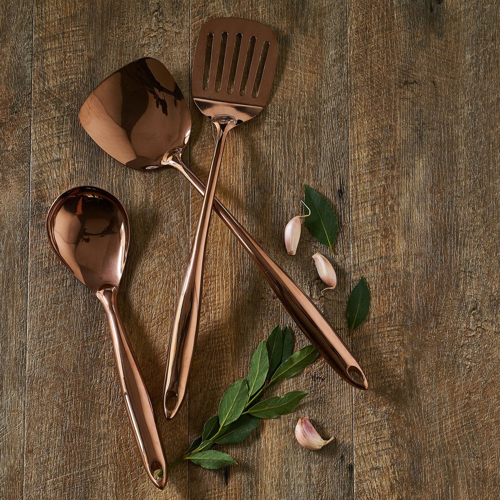 Burnished Gold Utensil Set