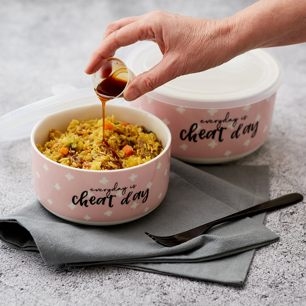 Microwave Me Bowls Set of 2 - Everyday Is Cheat Day