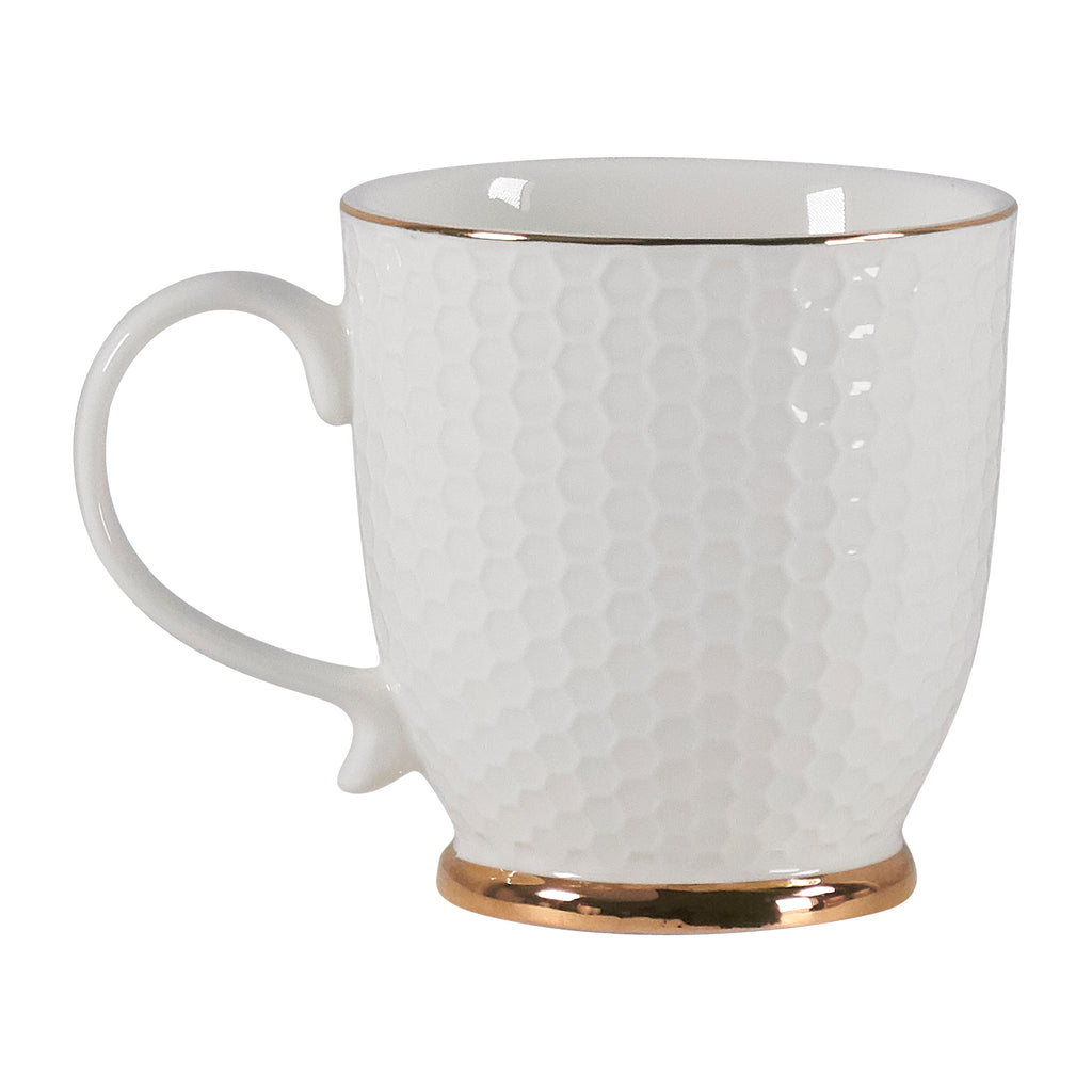 Mug - White Honeycomb