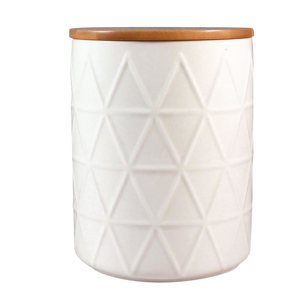Storage Jar - White Tria Large