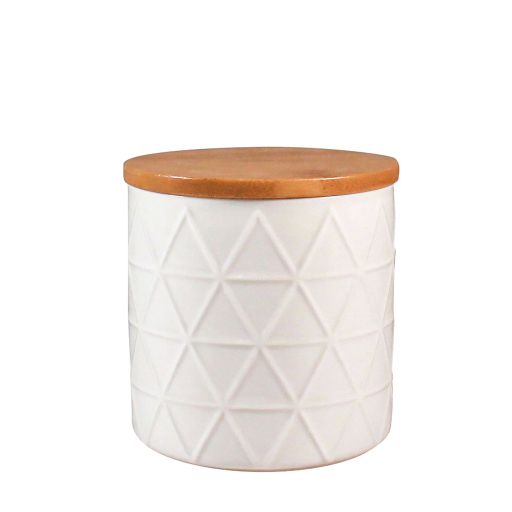 Storage Jar - White Tria Small
