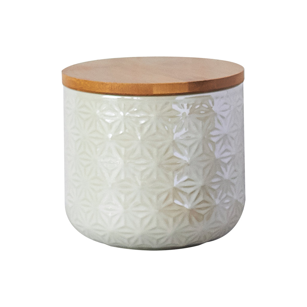 Storage Jar - White Star Medium