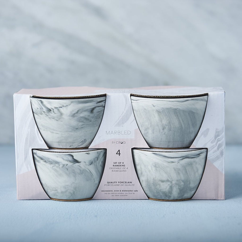 Marbled Ramekin Set