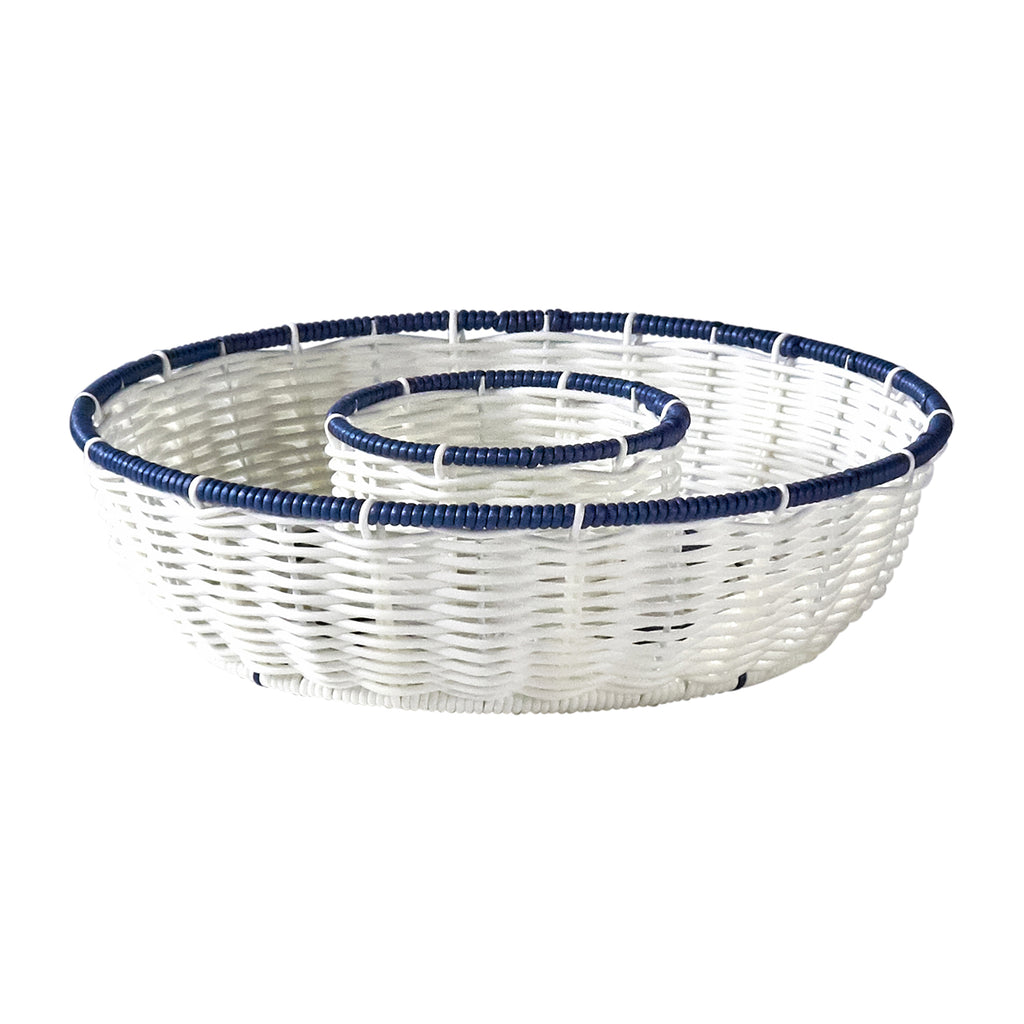 Resin Wicker Bowl - Nautical Buoy