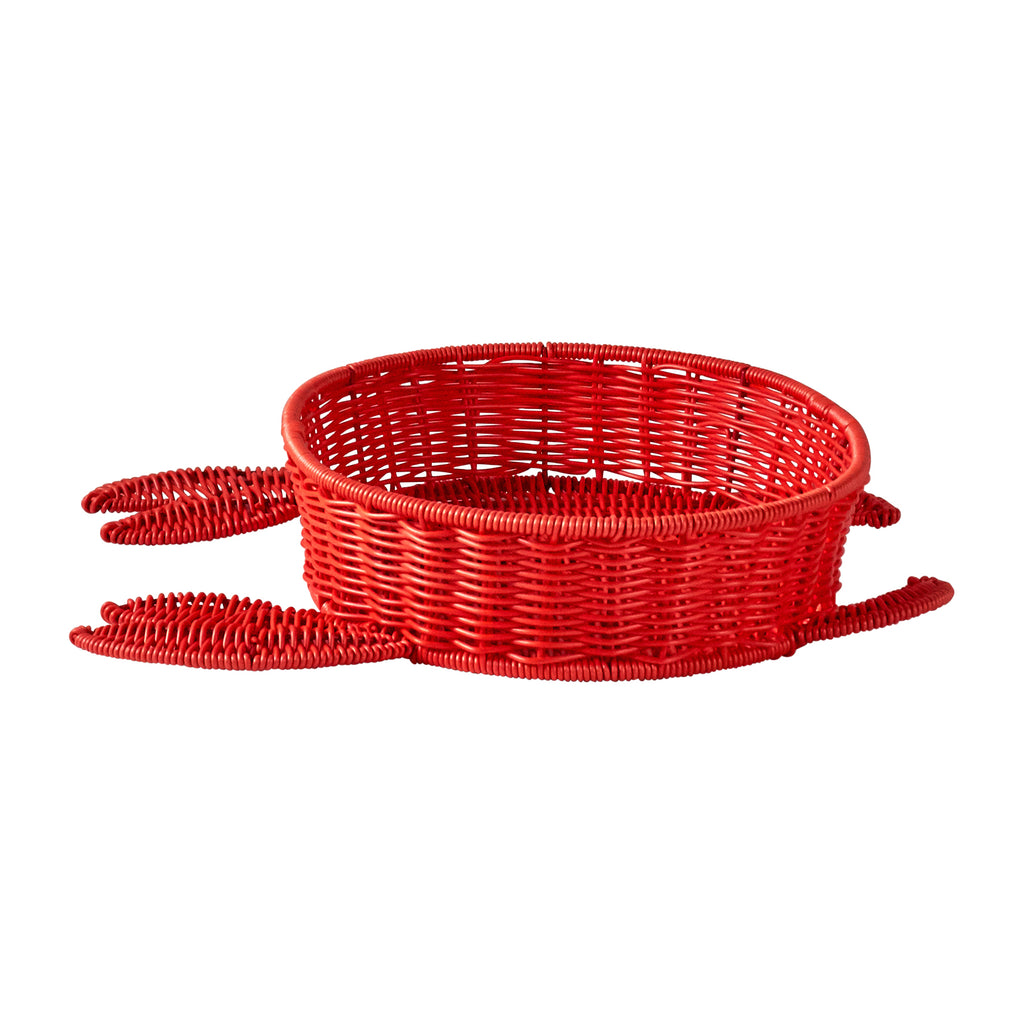 Resin Wicker Bowl - Red Crab