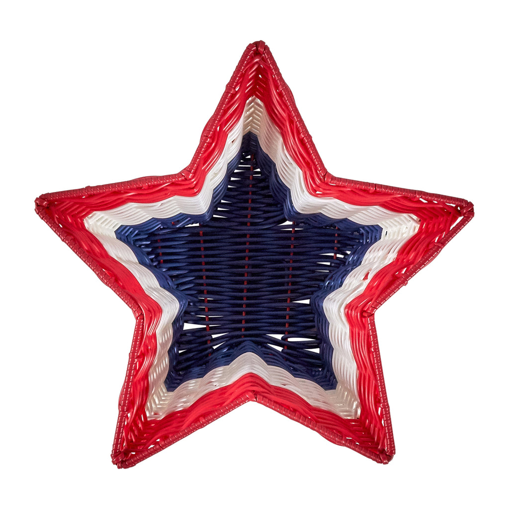 Resin Wicker Bowl - Star