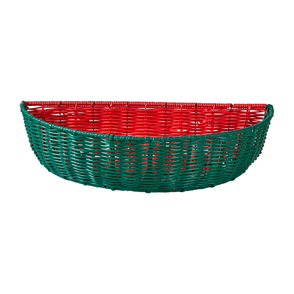 Resin Wicker Bowl - Watermelon