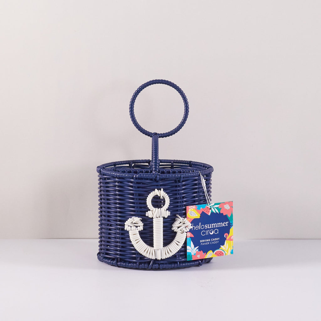 Resin Wicker Utensil Caddy - Anchor