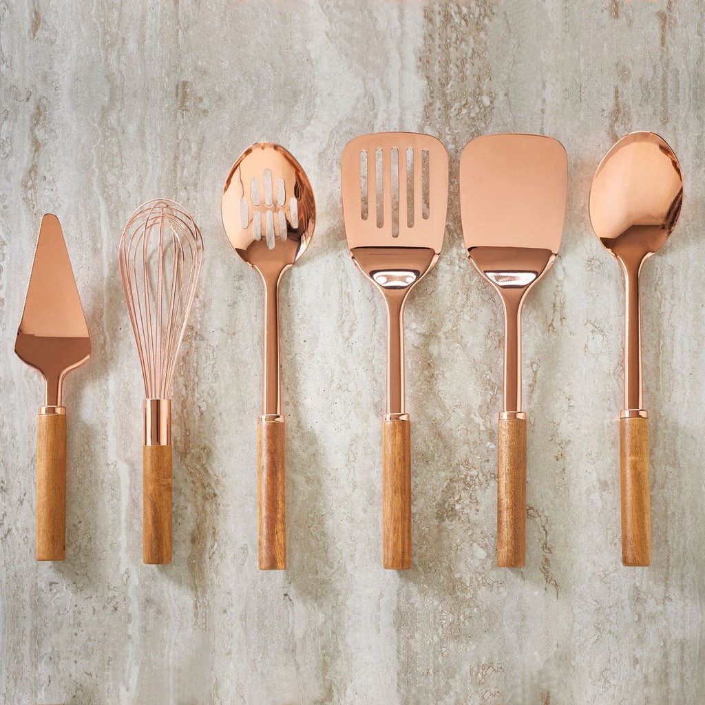 Rose Gold and Acacia Cake Server