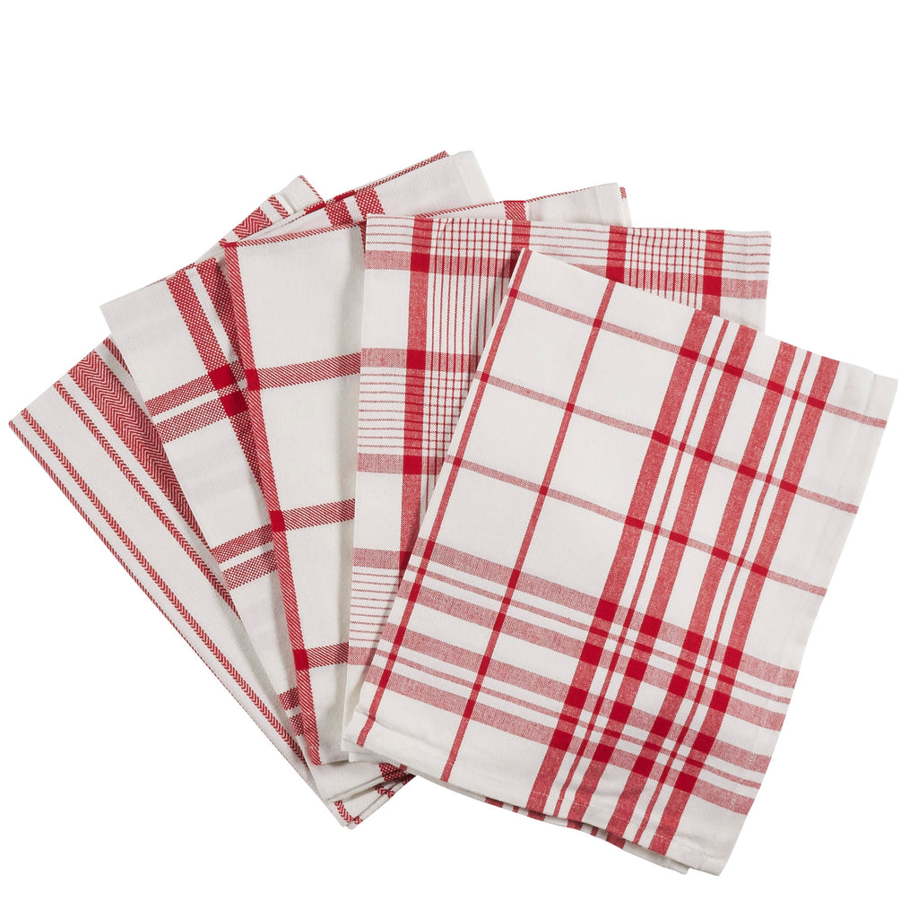 Tea Towels - Set of 5 Red