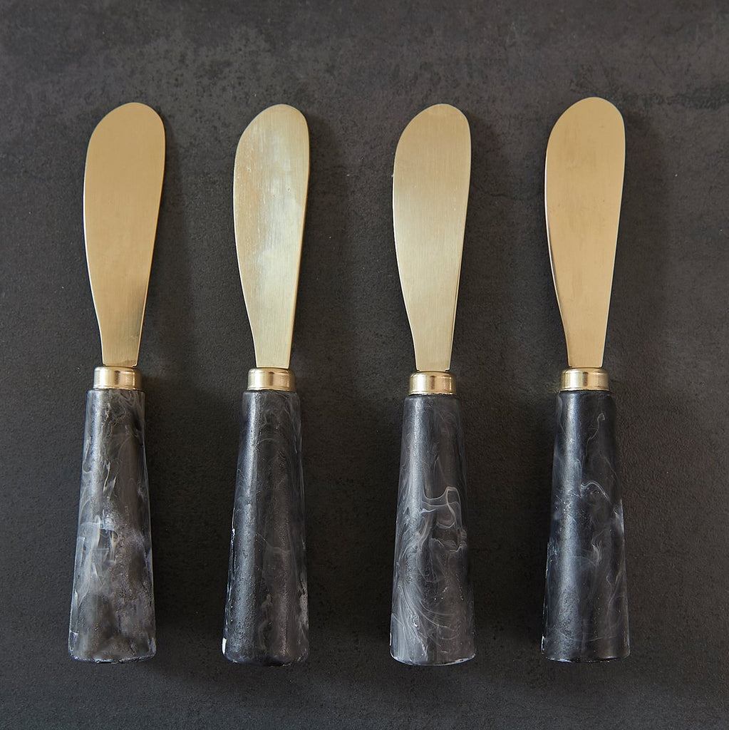 Black Swirl Cheese Spreader Set