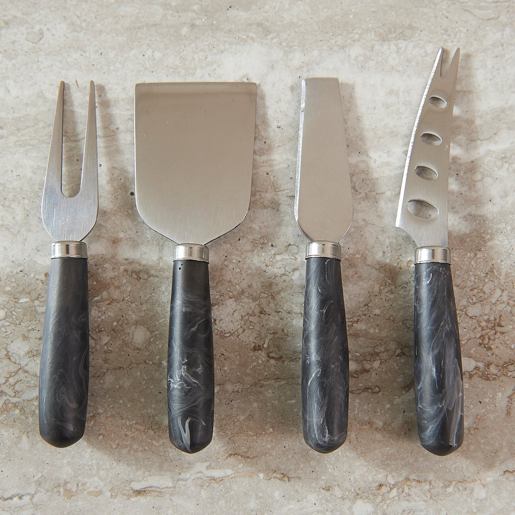 Black Swirl Cheese Knife Set