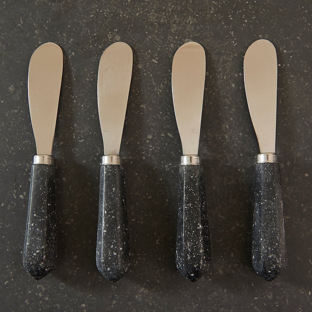Faux Granite Facet Cheese Spreader Set