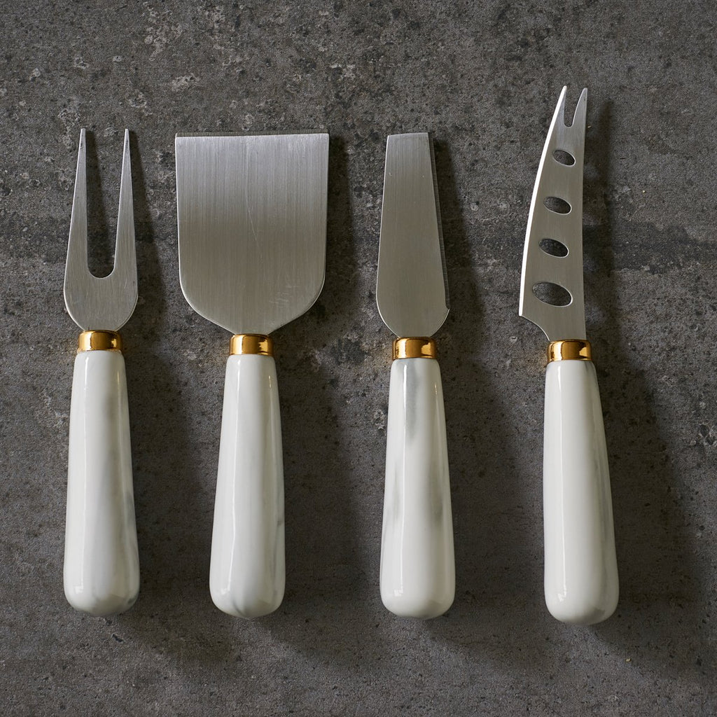 Marbled Ceramic Cheese Knife Set