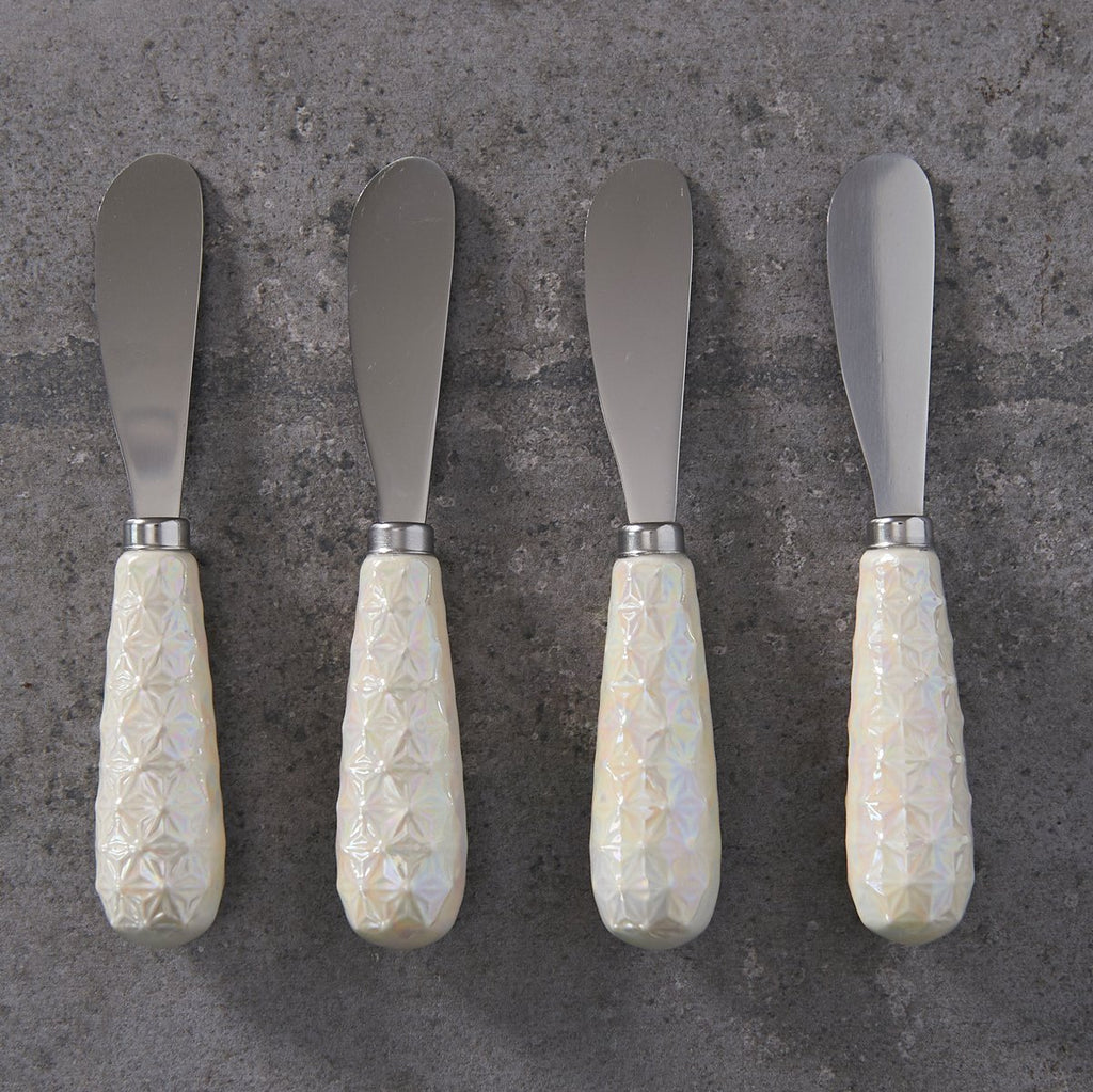 Embossed and Pearlised Cheese Spreader Set