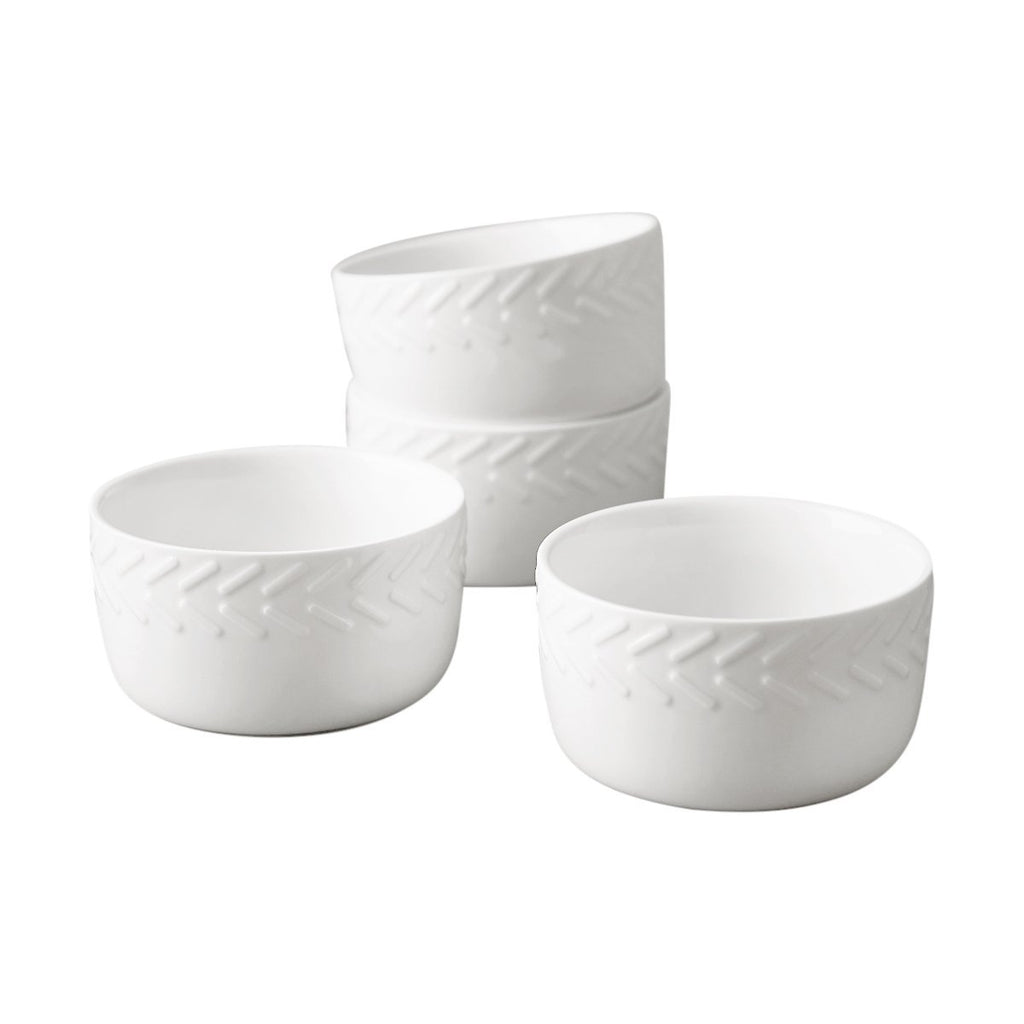 Dash Rim Embossed Ramekin Set