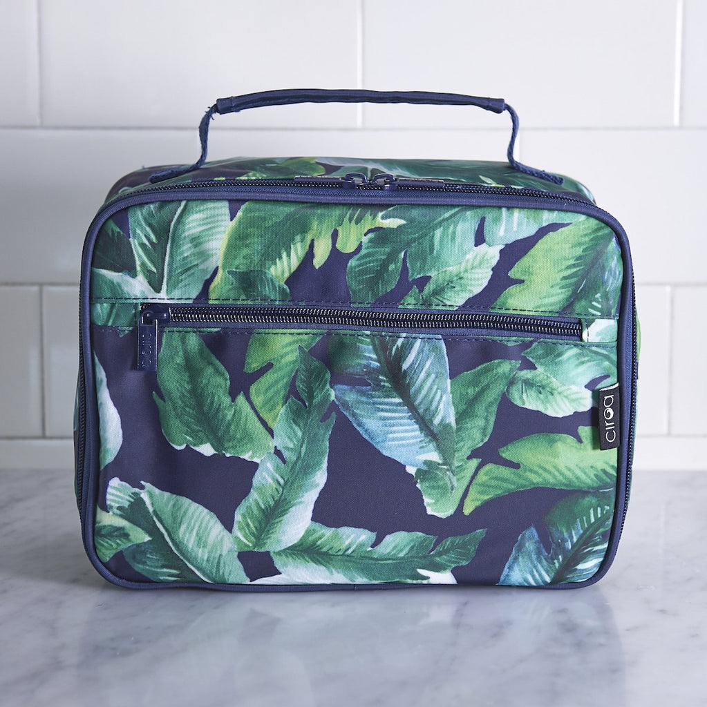 Navy Palm Lunch Box