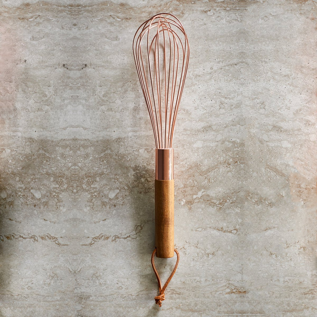 Rose Gold Finish and Acacia Whisk